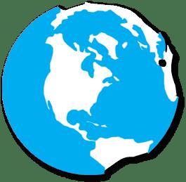 Globe icon (representing ayming's international presence)